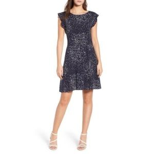 New Cupcakes & Cashmere dolores fit flare dress 0